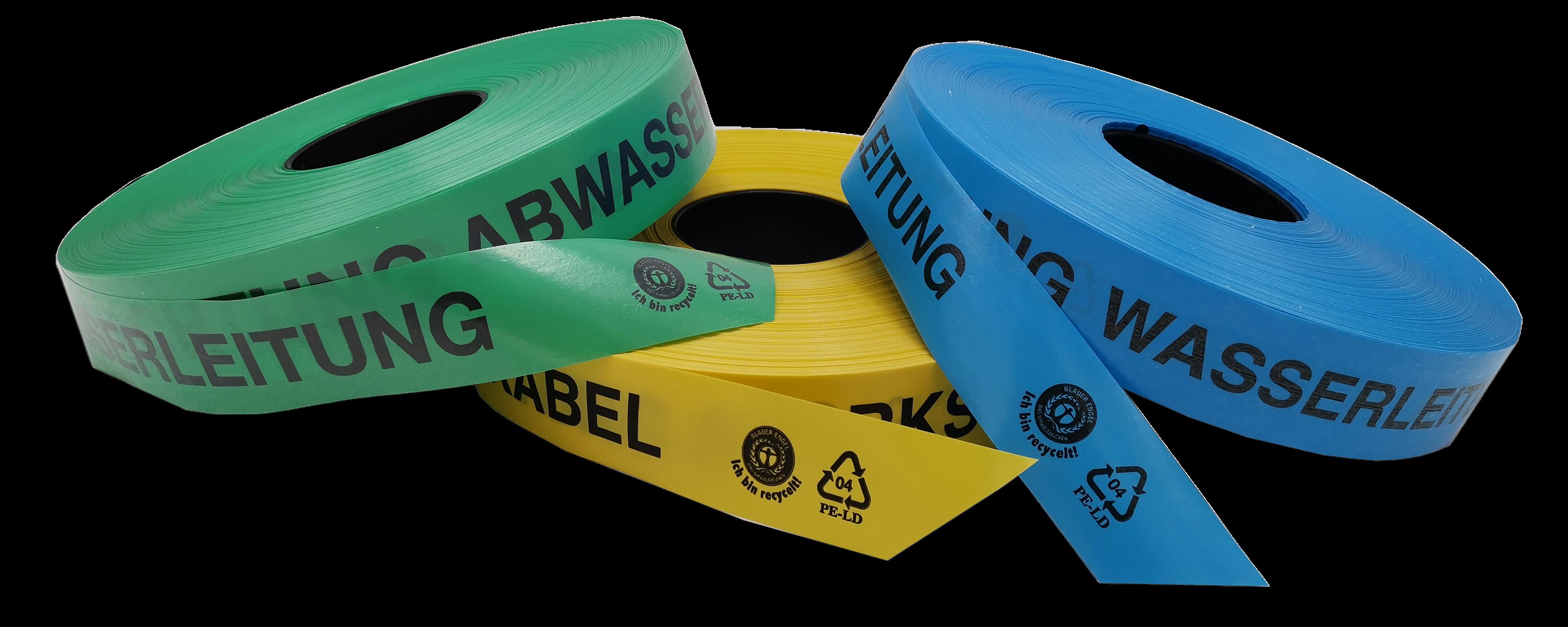 Trassenwarnband recycelt transparent